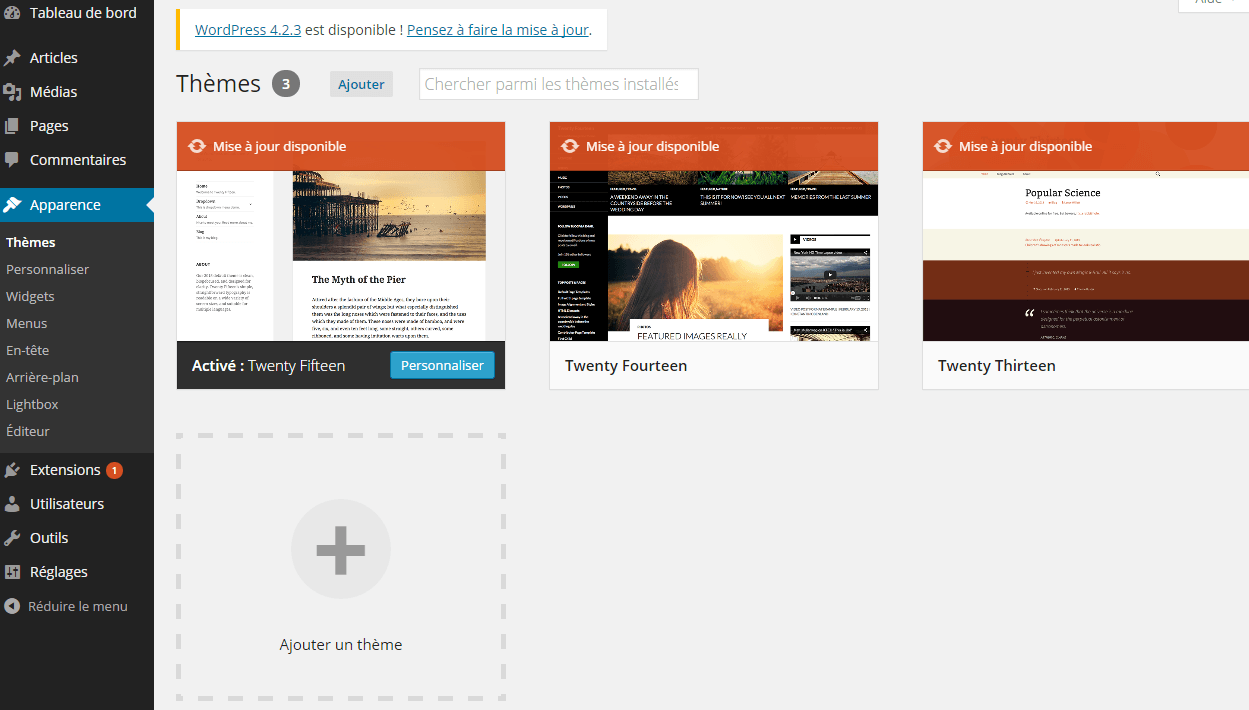 upload theme
