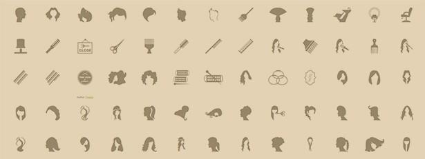 icône salon de coiffure