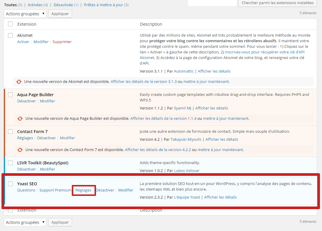 page extension seo creer un site internet
