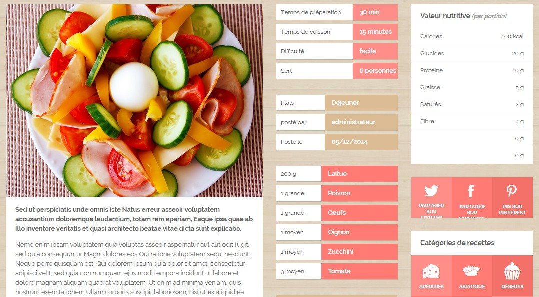 page recette social chef