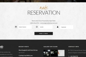 theme wordpress restaurant reservation