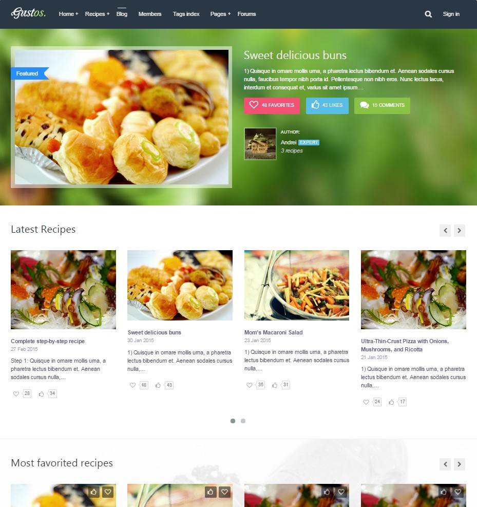 Th mes wordpress pour site de recette de cuisine for Sites de cuisine