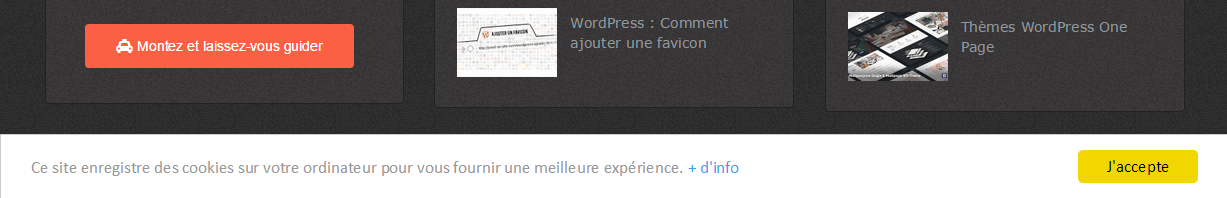 alerte cookie wordpress sans plugin