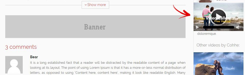 lecteur reduit visible scroll