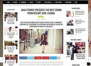 theme fashery blog magazine page widget