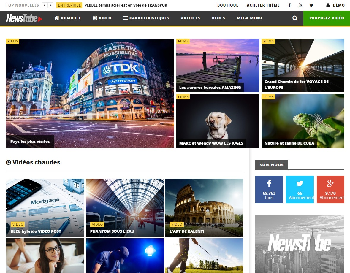 theme video streaming wordpress newstube