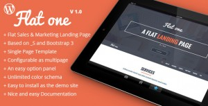 theme wordpress one page flat one