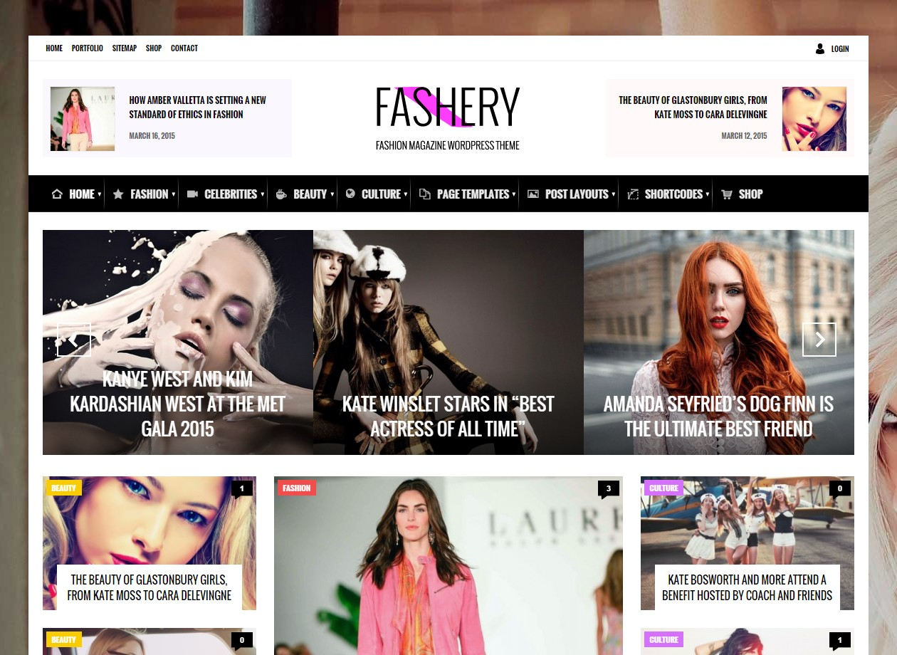 theme wordpress magazine fashery