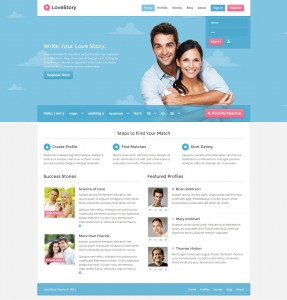 theme wordpress rencontre love story