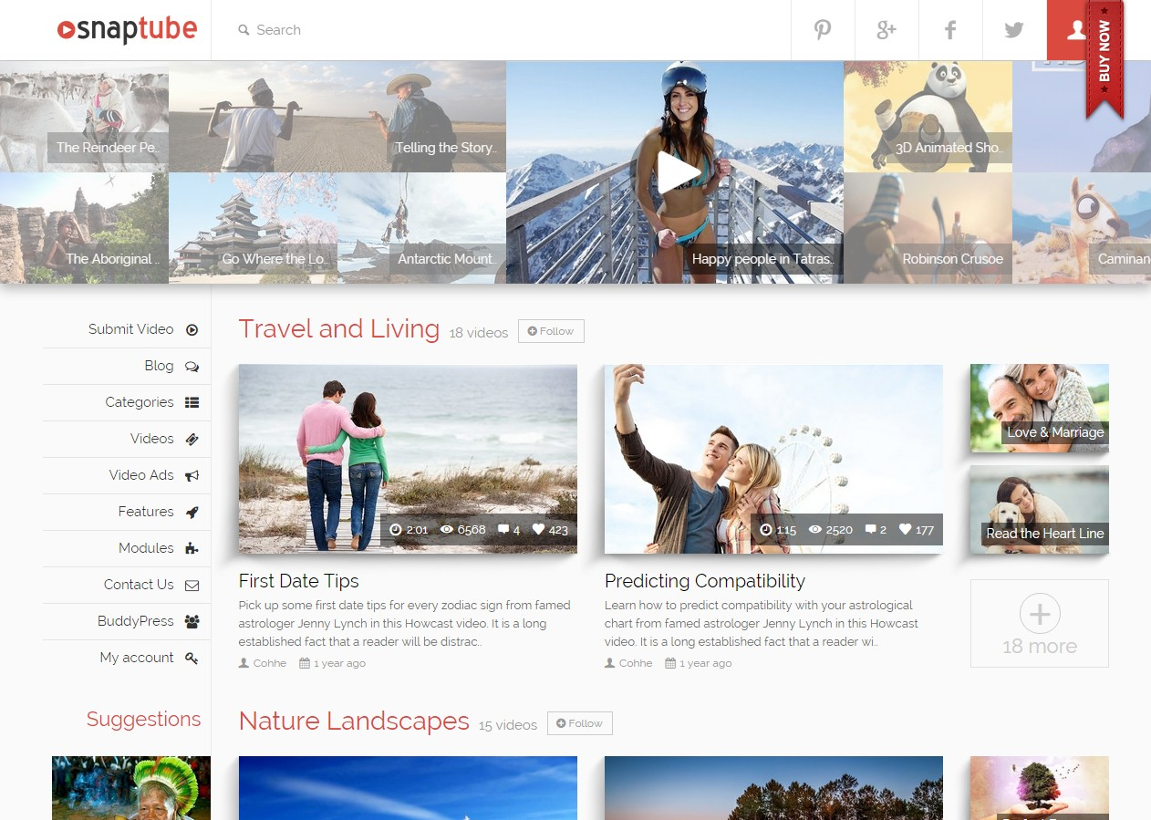 themes wordpress videos