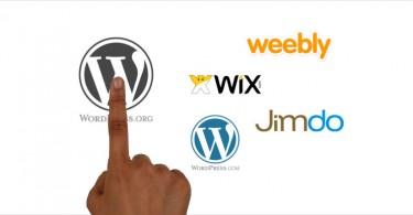 Solutions pour creer un site