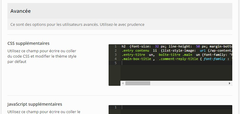 additionnel css theme enfant