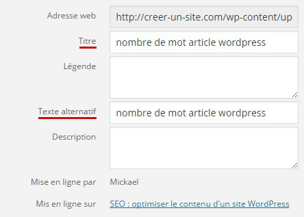 champ alt tittle image wordpress seo