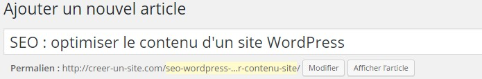h1 titre wordpress