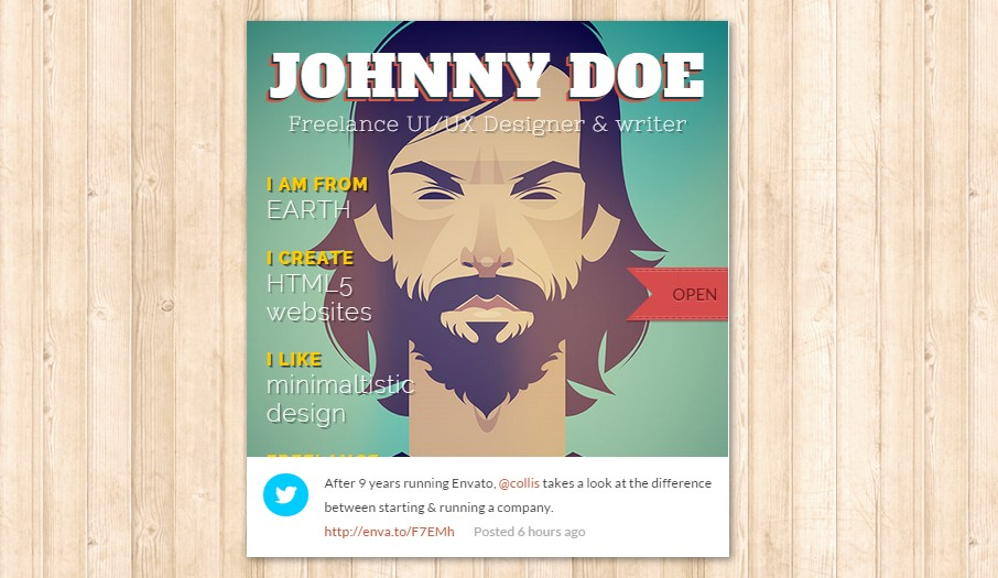 theme wordpress portfolio bookcard