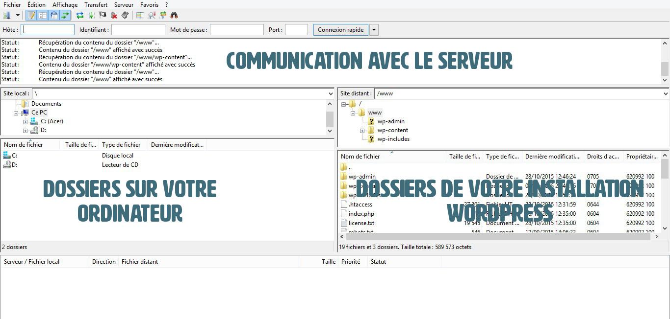 architecture filezilla wordpress