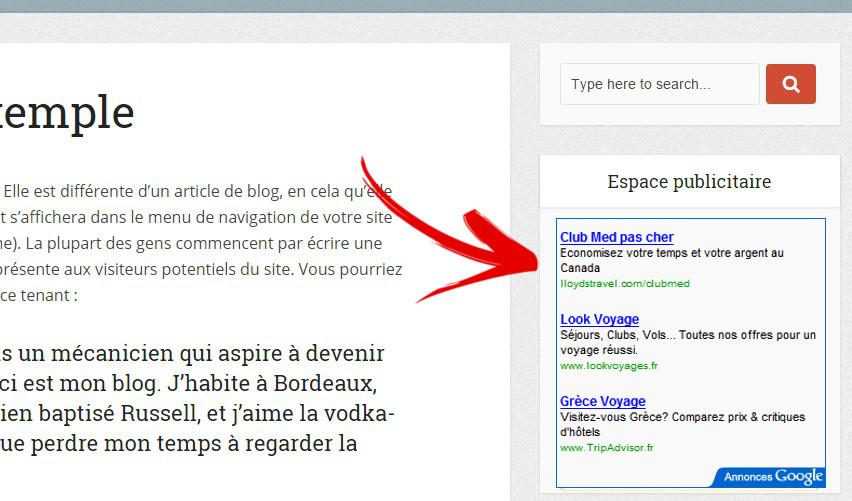 google adsense espace publicitaire wordpress plugin