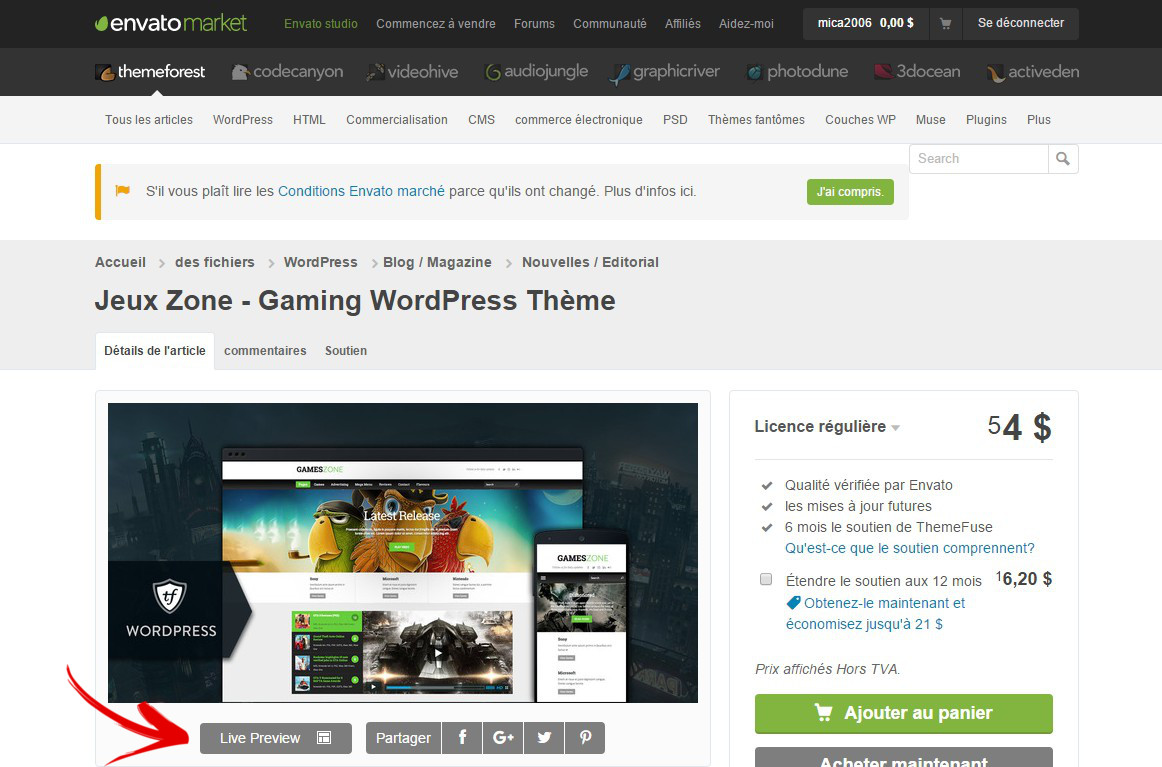 previsualiser theme themeforest