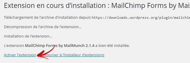 activer plugin mailmunch