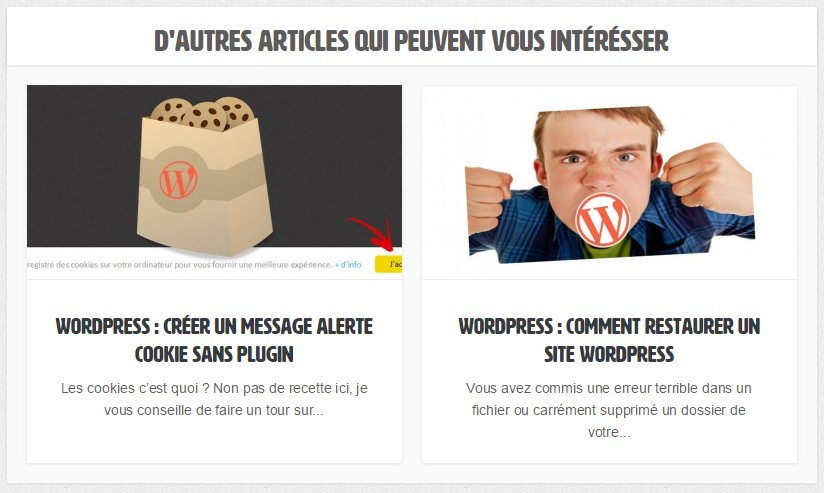 articles similaires wordpress