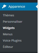 widget mailchimp menu
