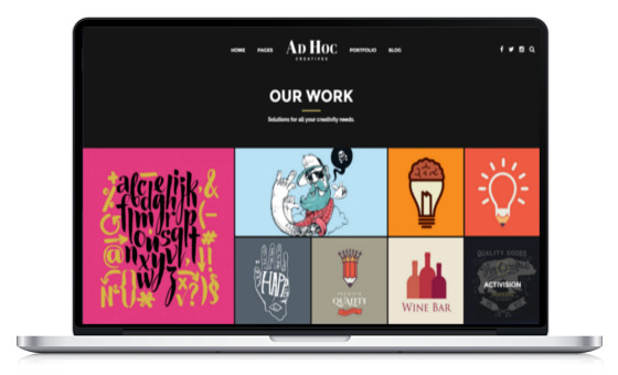 theme wordpress portfolio