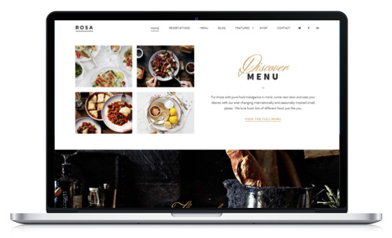 theme wordpress restaurant café boulangerie snack