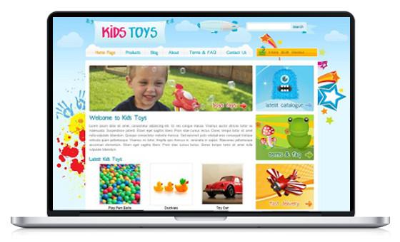 site design couleur enfant