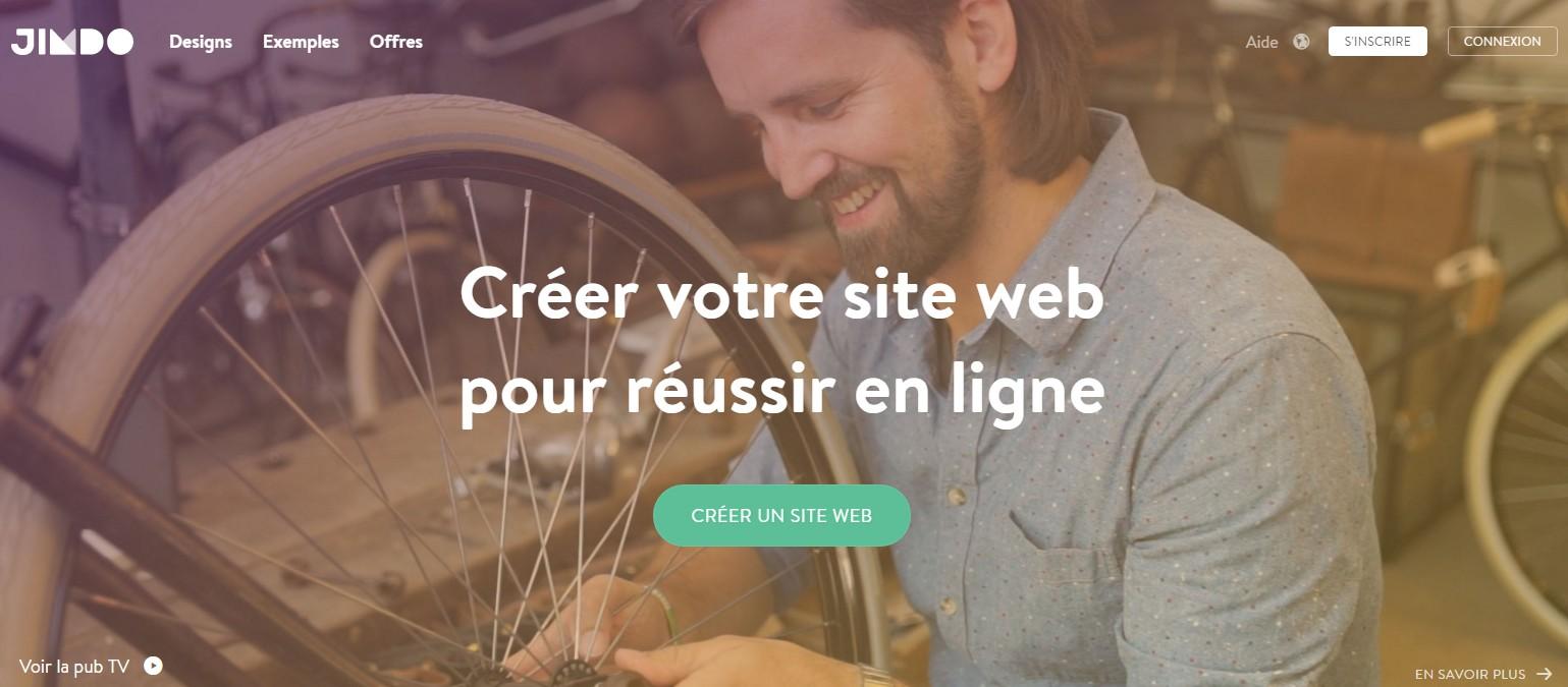 creer votre site web jimdo
