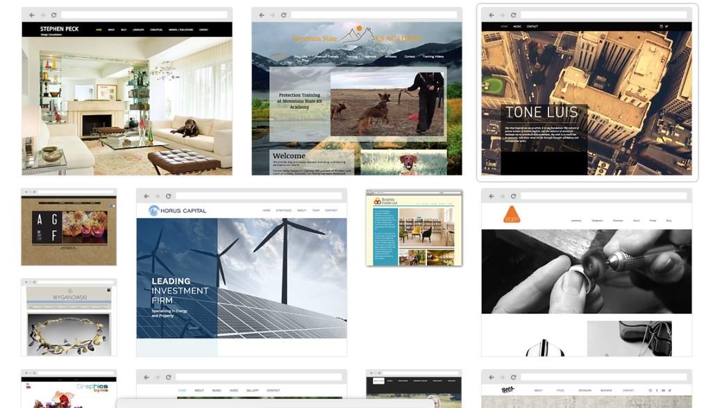 exemple de site crée avec wix