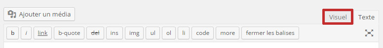 bug saut de ligne wordpress editeur