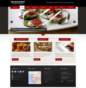 theme wordpress the restaurant
