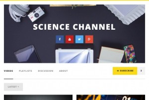 channel video suscribe wordpress theme video