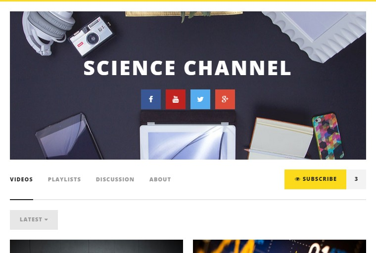 channel video suscribe wordpress theme video