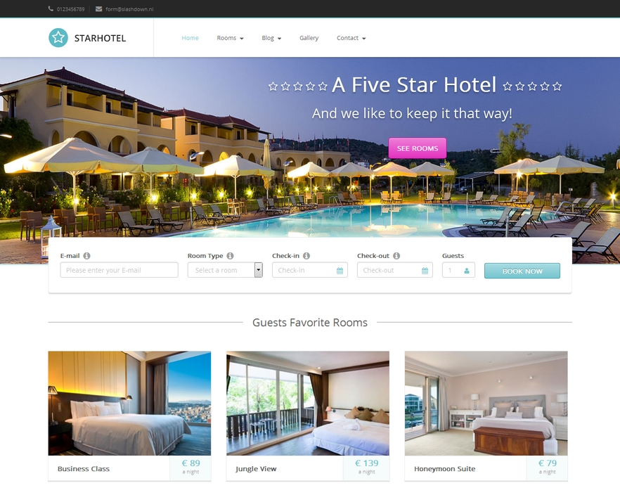 themes wordpress hotel