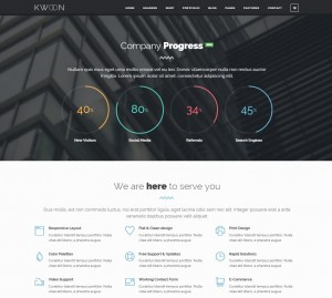 theme one page wordpress