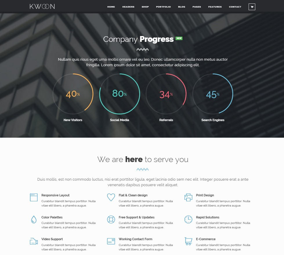themes wordpress one page