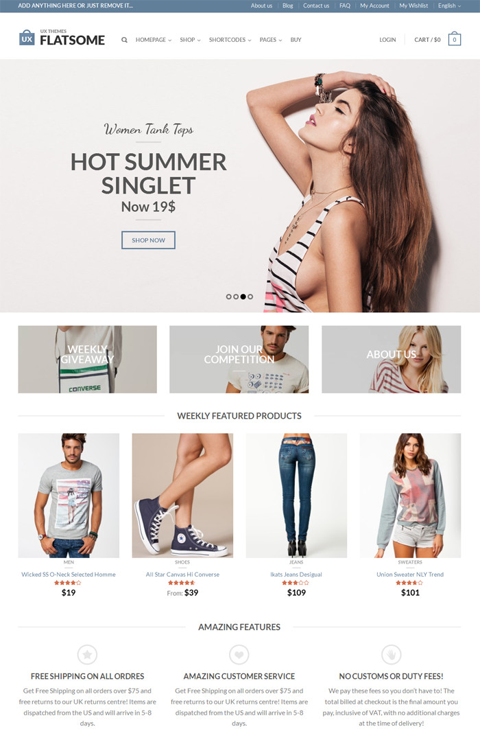 theme boutique en ligne wordpress ecommerce flatsome