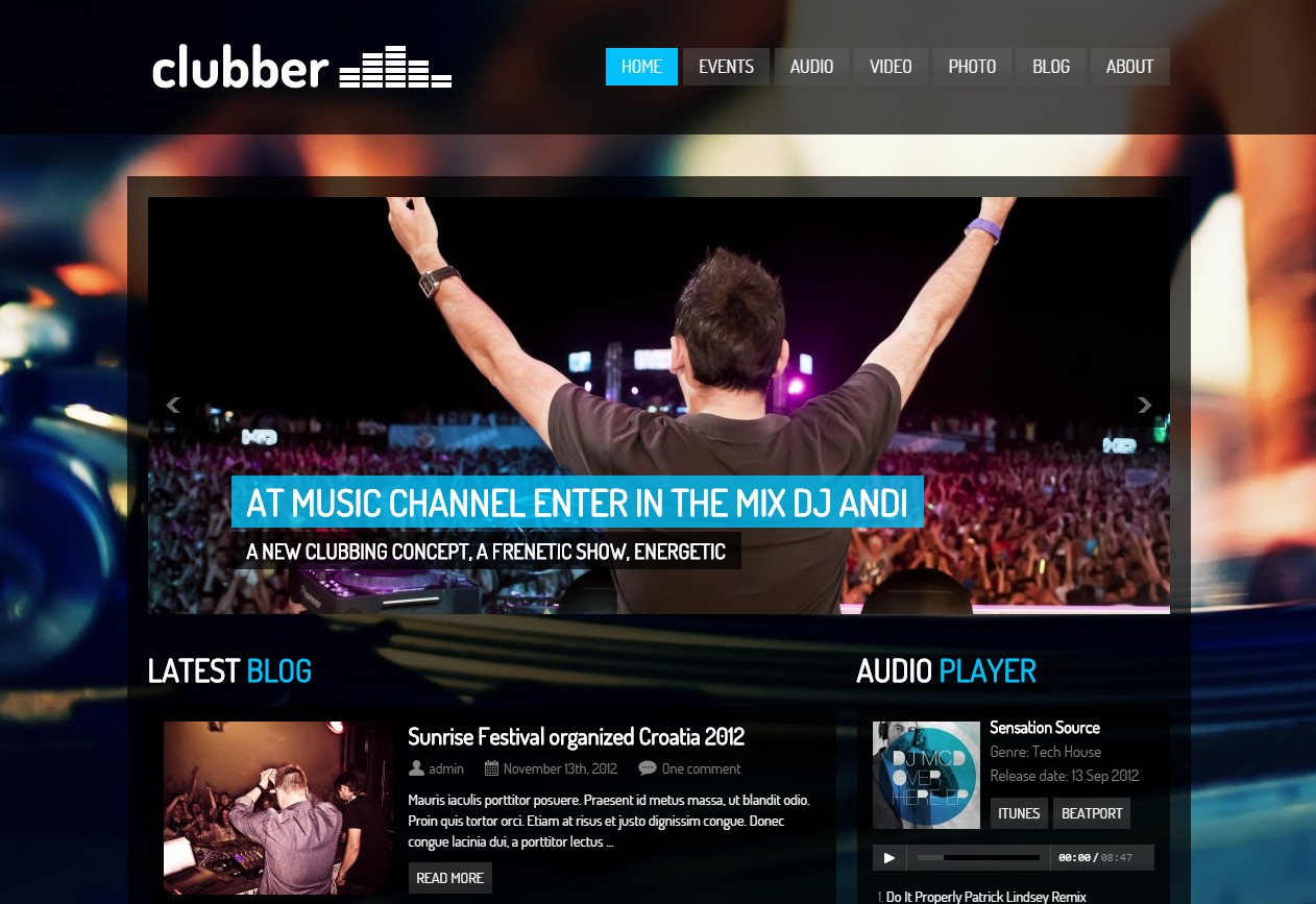 creer site musique discothèque dj