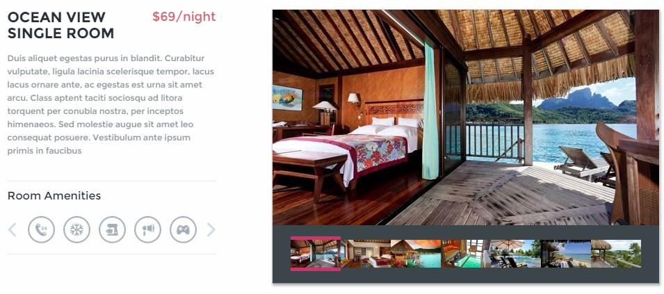 hotel paradise cove caractéristique