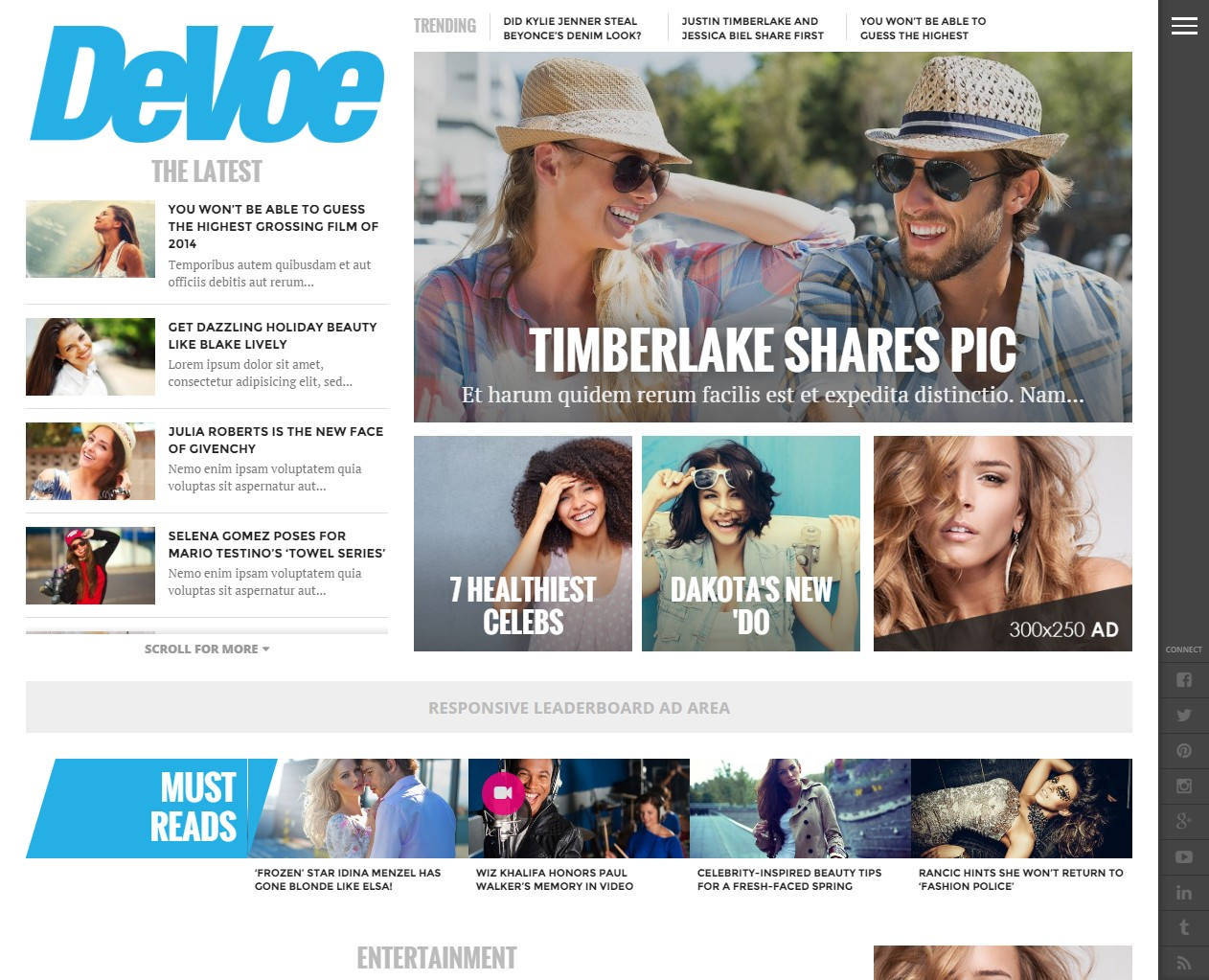 theme wordpress magazine devoe
