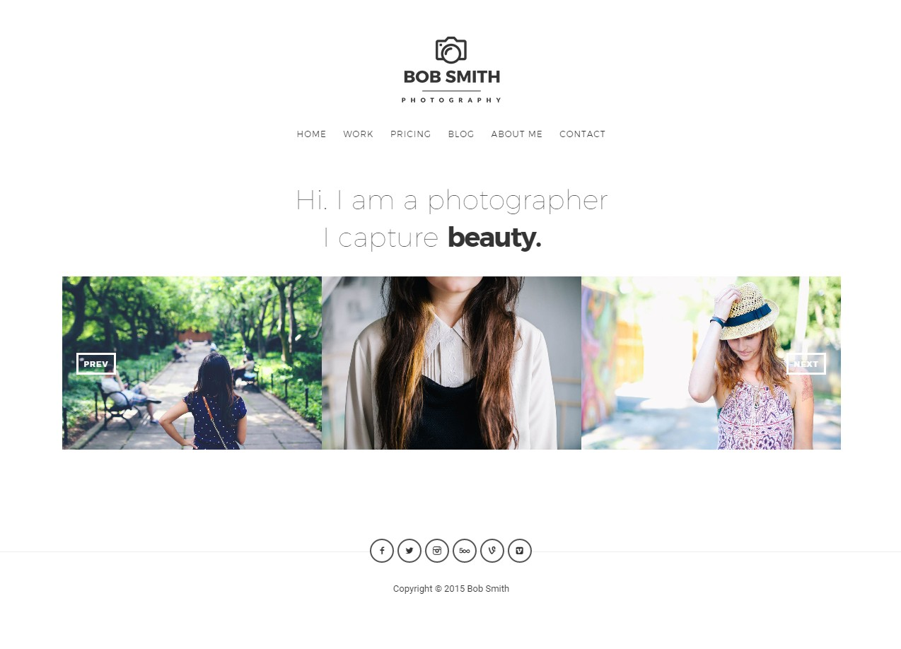 theme wordpress photographe