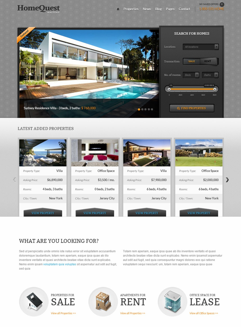 themes wordpress agence immobiliere homequest