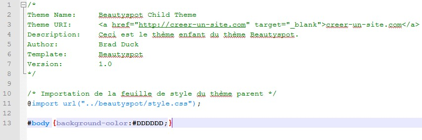 capture theme enfant fichier css