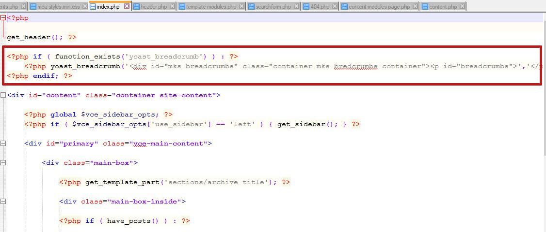 index fil ariane code