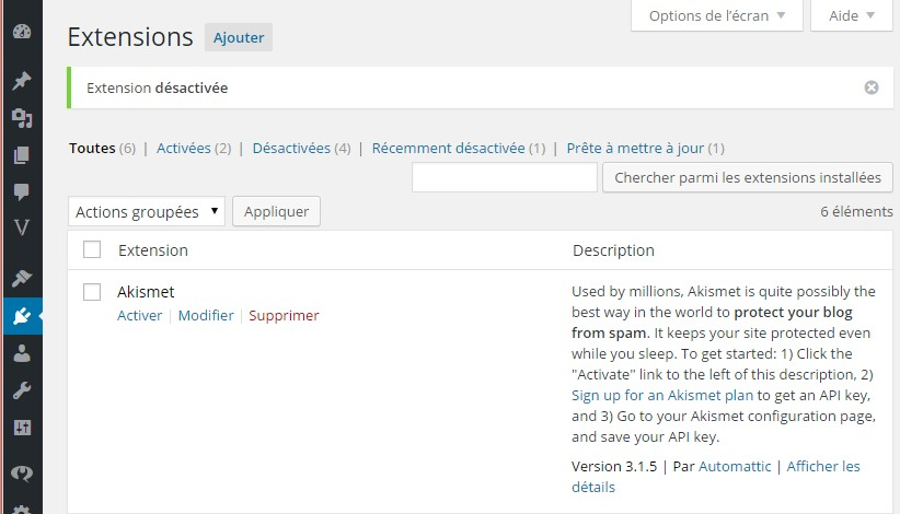 plugin akismet bloquer spam wordpress commentaire