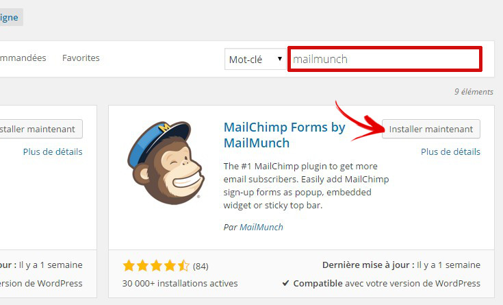 plugin mailmunch mailchimp