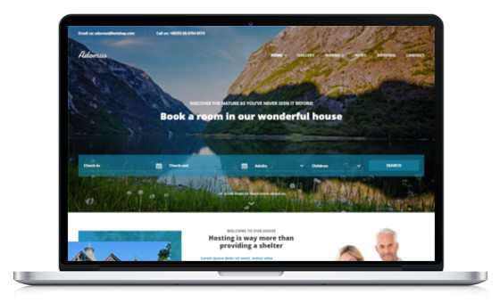 theme wordpress hotel hotelerie gite