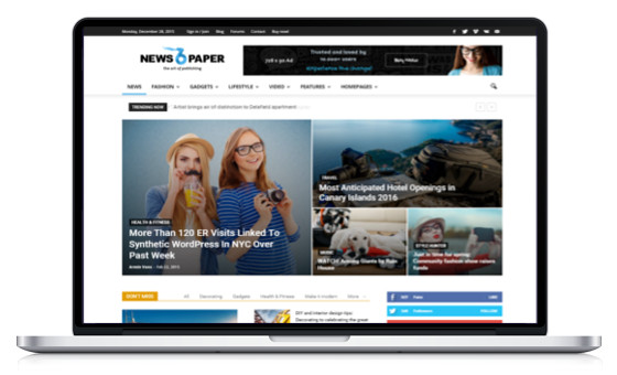 theme wordpress magazine news