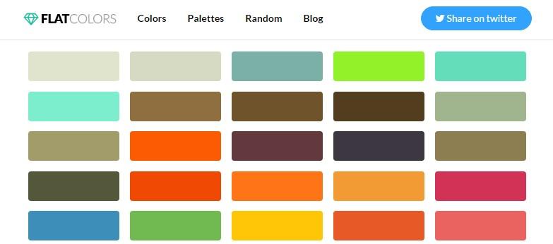 choix couleur flat design palette